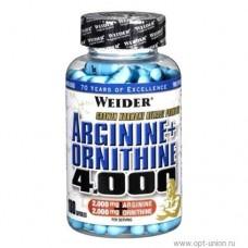Arginine + Ornithine 4000  от Weider (180 капсул)